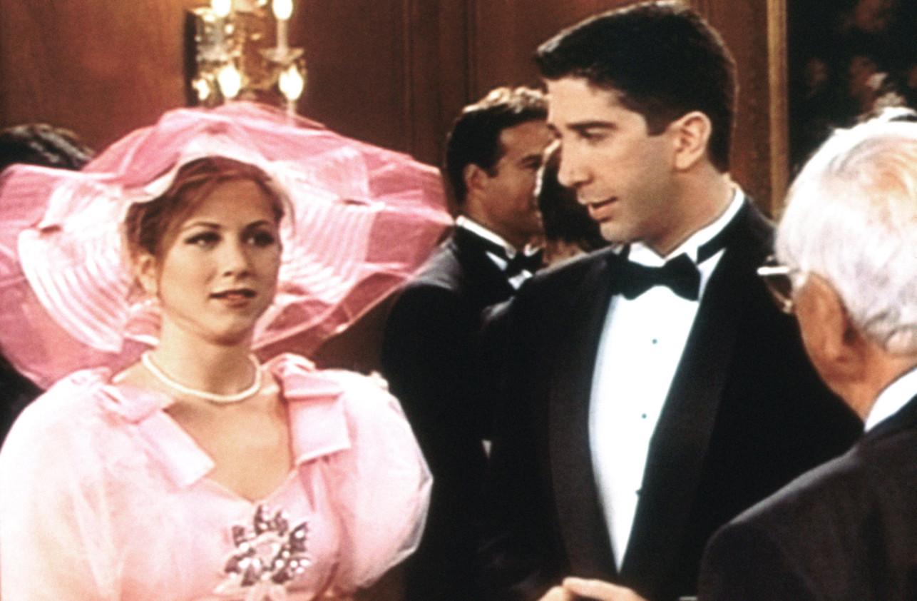 Vestido de dama de honor de Rachel Los mejores atuendos de Friends